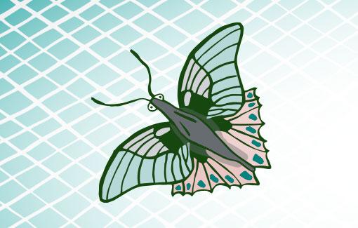 Gezeichneter Schmetterling