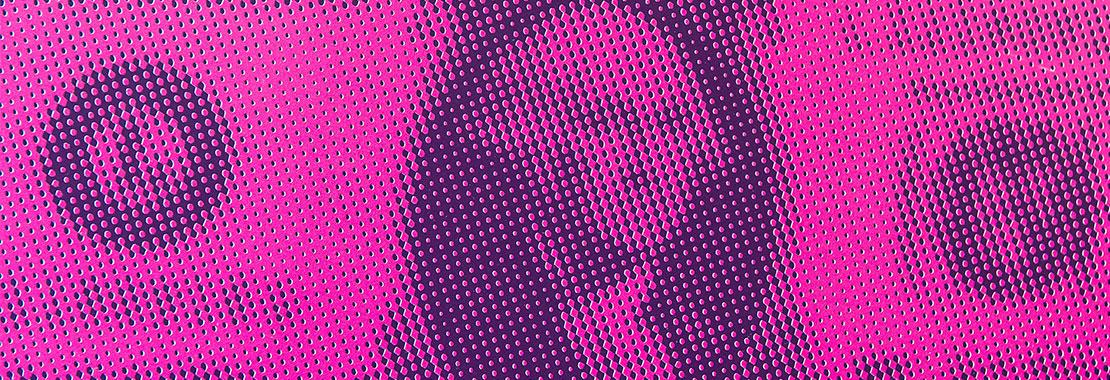 Eine pinke Dollarnote im Close-Up